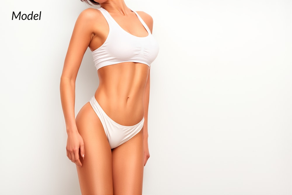Fit woman after a body contouring procedure.